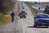 Lundi 19octobre 2020 à Homer, en Alaska, après qu'un ordre d'évacuation du tsunami a été émis.