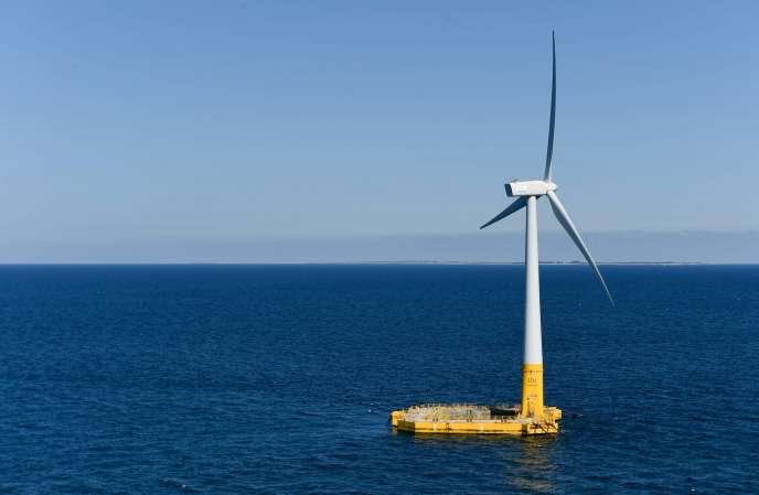 Floatgen est la première et seule éolienne en mer installée au large du Croisic (Loire-Atlantique) dans le futur parc éolien offshore qui verra le jour en 2022.