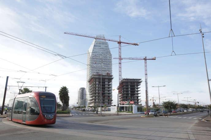 Le nouveau quartier d'affaires Casablanca Finance City, au Maroc, en novembre 2019.