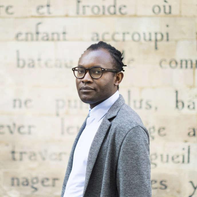 L'écrivain congolais Fiston Mwanza Mujila, en 2020, à Paris.