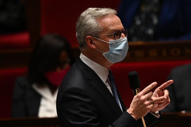 Le ministre de l'économie Bruno le Maire à l'Assemblée nationale, à Paris, le 20 octobre 2020.