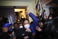 Luis Arce après l'annonce de sa victoire à l'élection présidentielle, à La Paz, le 19 octobre.