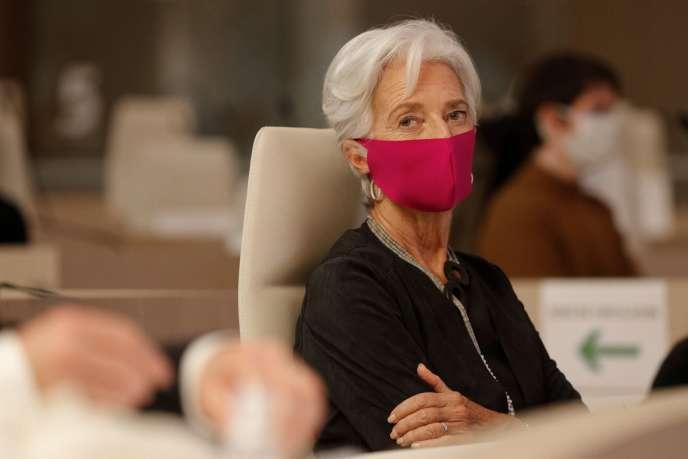 Christine Lagarde, aujourd'hui présidente de la BCE, lundi 19 octobre, à Saint-Ouen à l'occasion du congrès des Régions. La loi Lagarde de 2010 permet aux emprunteurs de recourir à une assurance tiers.