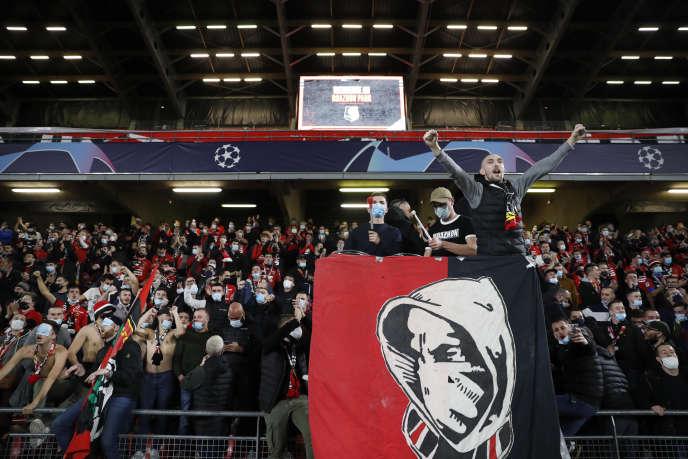 Les fans du Stade rennaislors du match de Ligue des champîons contre les Russes du FK Krasnodar, le 20 octobre.