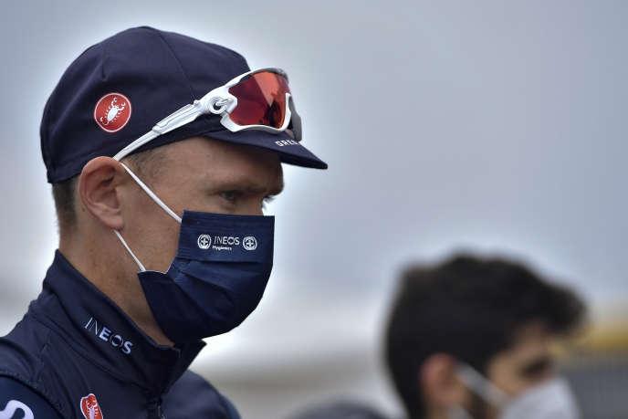 Chris Froome à Irun au départ du Tour d'Espagne, le 20 octobre.