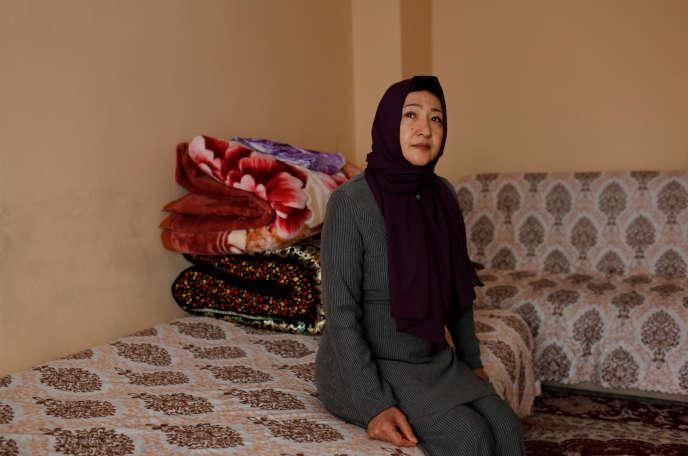 Gulbahar Jelilova, citoyenne du Kazakhstan d'origine ouïgoure, à Istanbul (Turquie), le 16 novembre 2018.