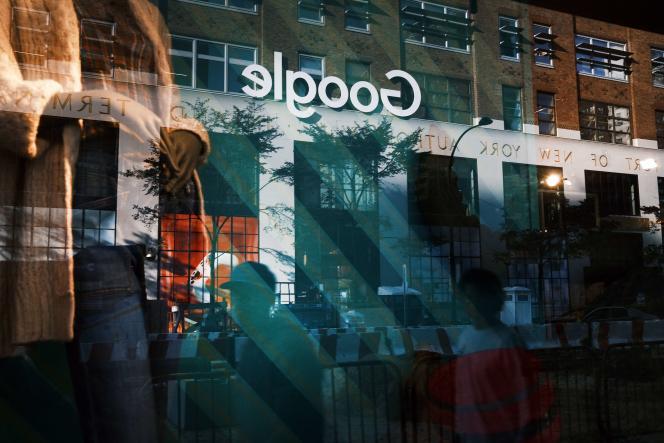 Les bureaux de Google à New York, le 20 octobre.