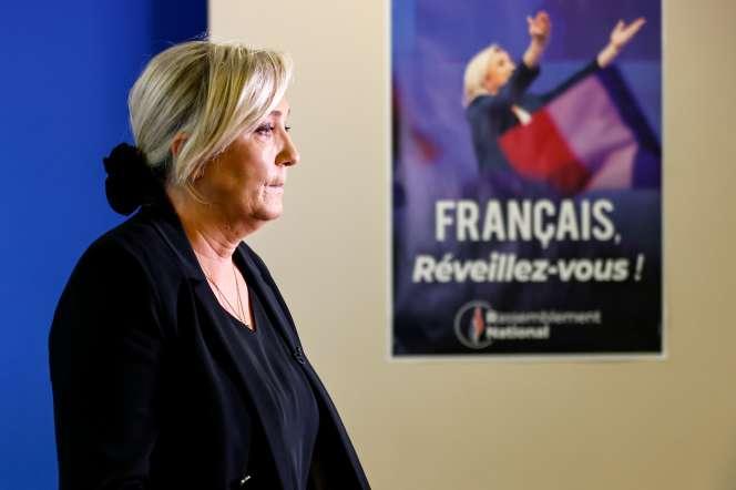 Marine Le Pen, au siège du Rassemblement national, à Nanterre, le 16 octobre.