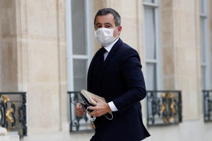 Gérald Darmanin avant sa rencontre avec les représentants duConseil français du culte musulman, à l'Elysée à Paris, le 19 octobre.