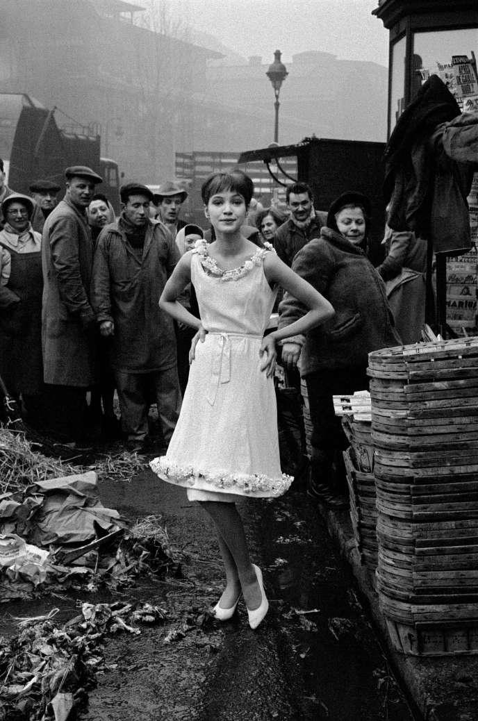 1959, Paris, France, for JDF, Anna Karina at Les Halles.