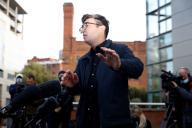 Le maire du Grand Manchester, Andy Burnham, lors d'une conférence à Manchester, le 20 octobre.