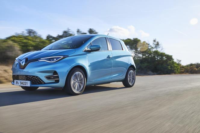 La nouvelle Renault Zoe électrique.