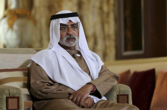 Le cheikh Nahyan Ben Moubarak Al-Nahyan, ministre émirati de la tolérance, à Abou Dhabi, en janvier 2019.