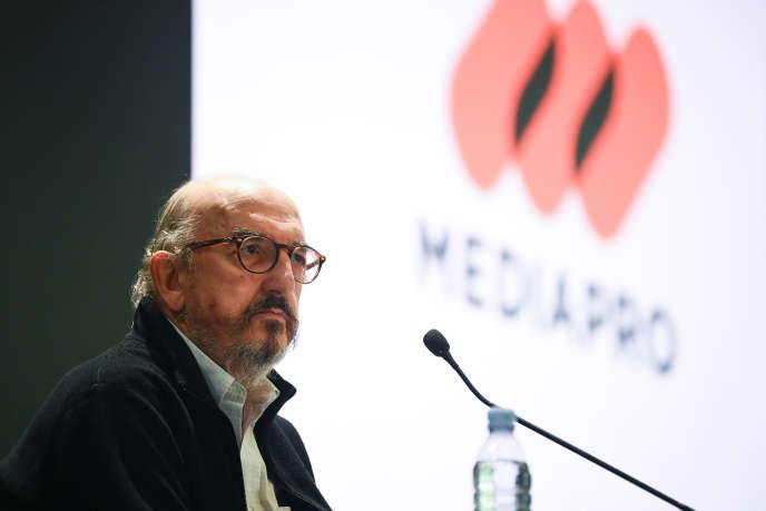 Le fondateur de Mediapro, Jaume Roures, à Paris, mercredi 21 octobre.