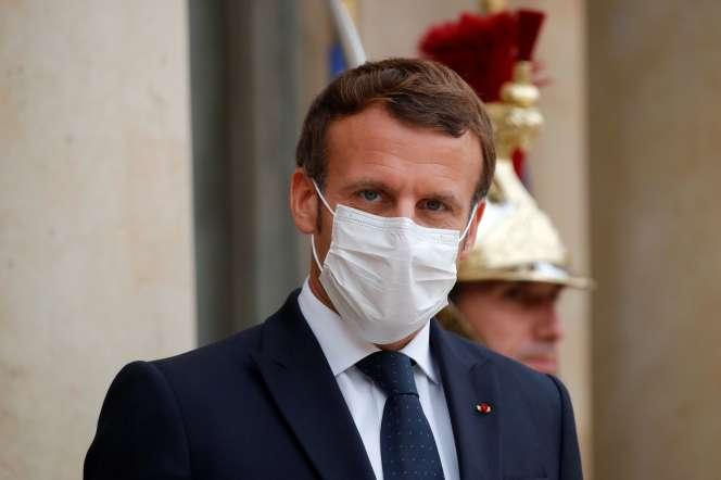 Emmanuel Macron à l'Elysée, le 22 octobre 2020.