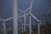 Le parc éolien San Gorgonio, près de Palm Springs (Californie), en 2016.