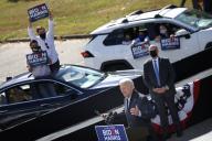 Joe Biden en campagne à Durham, en Caroline du Nord, le 18 octobre.