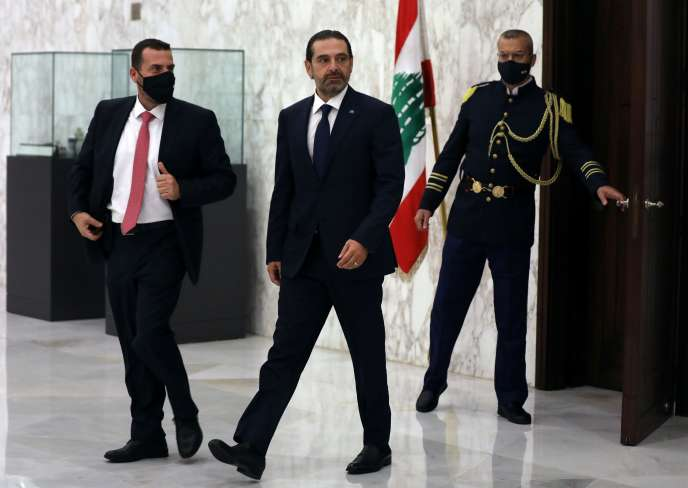Saad Hariri, après avoir été nommé premier ministre, au palais présidentiel, à Baabda, au Liban, le 22 octobre.