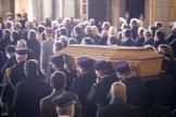 Lors de la cérémonie d'hommage à Samuel Paty dans la cour de la Sorbonne, le 21octobre.