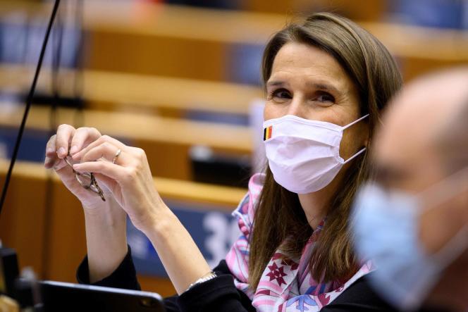 Sophie Wilmès à Bruxelles, le 2 octobre 2020, au lendemain de son remplacement.