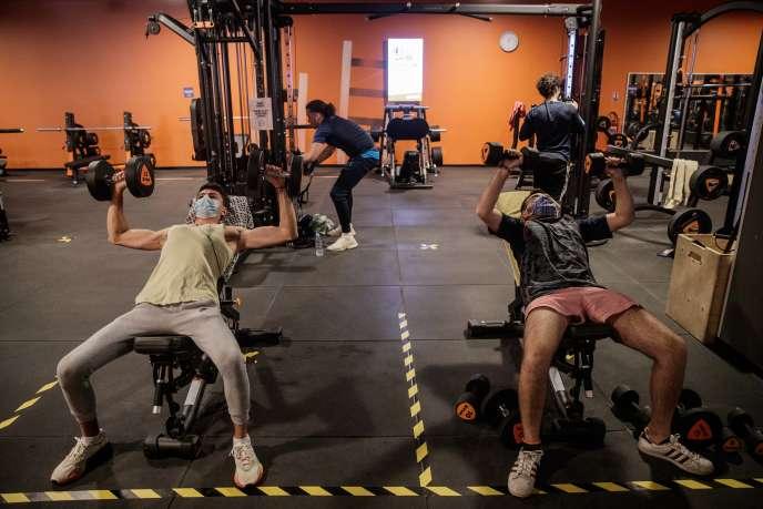 Une salle de sport à Caen (Calvados), le 4 juin.