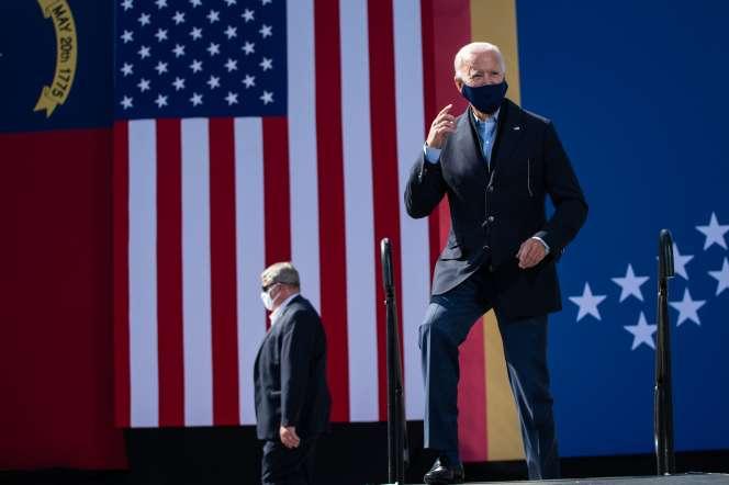 Joe Biden lors d'un meeting de campagne, à Durham (Caroline du Nord), le 18 octobre.