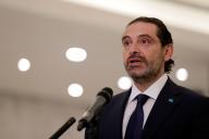 Le premier ministre libanais, Saad Hariri, lors d'une conférence de presse, le22octobre à Beyrouth.