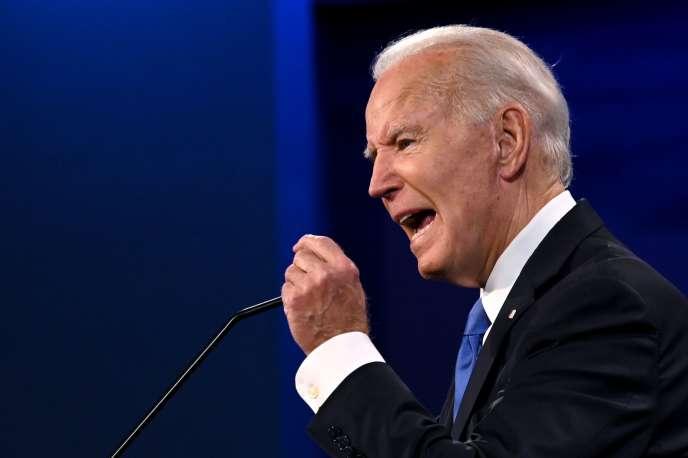 Joe Biden lors du dernier débat avec Donald Trump avant l'élection du 3 novembre, àNashville (Tennessee), le 22 octobre.