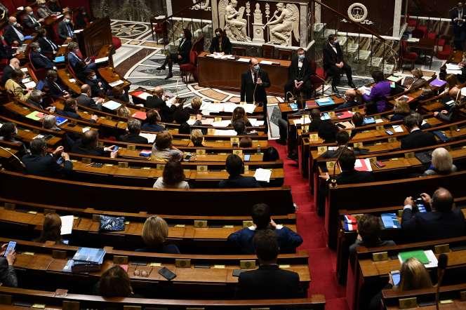 Jean Castex, à l'Assemblée, le 20 octobre.