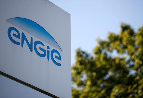 FILE PHOTO: The logo of French gas and power group Engie is seen in Nantes, France, September 28, 2020. REUTERS/Stephane Mahe/File Photo - RC29AJ9MJ2JS