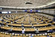 Ursula von der Leyen, la présidente de la Commission européenne, devant le Parlement européen, à Bruxelles, le 16 septembre.