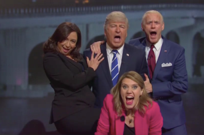 « Saturday Night Live » avec Alec Baldwin en Donald Trump et Jim Carrey en Joe Biden.