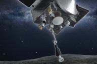 Une image représentant la collecte des échantillons par Osiris-Rex, mardi 20 octobre.