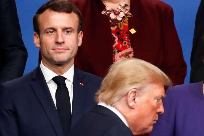 Emmanuel Macron et Donald Trump, au sommet de l'OTAN, à Watford, au nord-est de Londres,le 4 décembre 2019.