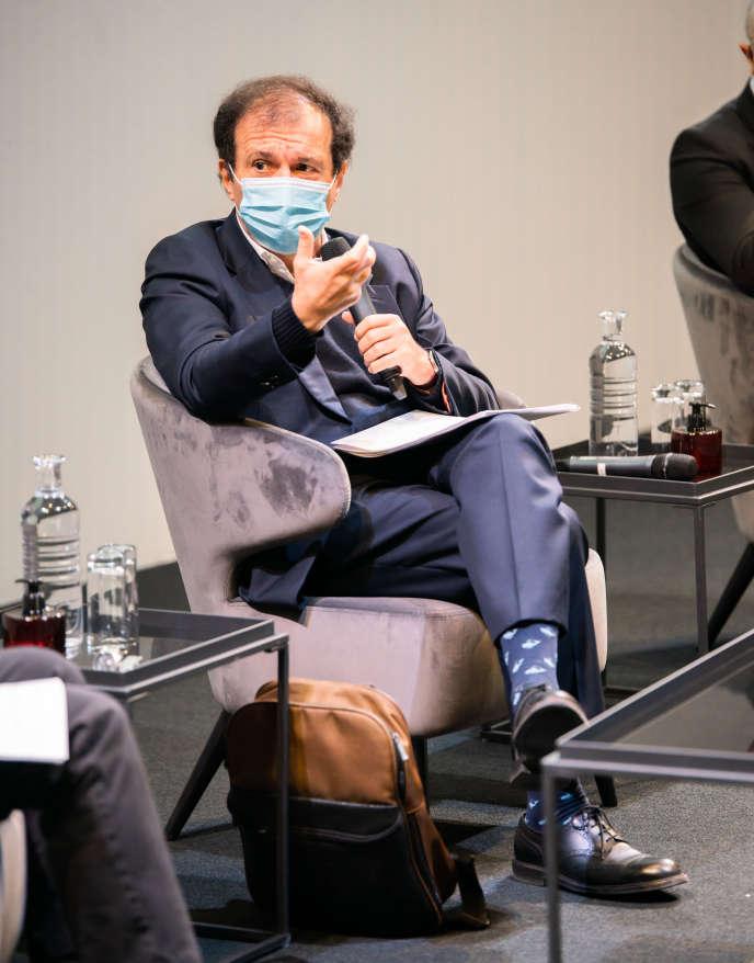 Daniel Cohen, au Club de l'économie du « Monde », à Paris, le 22 octobre 2020.