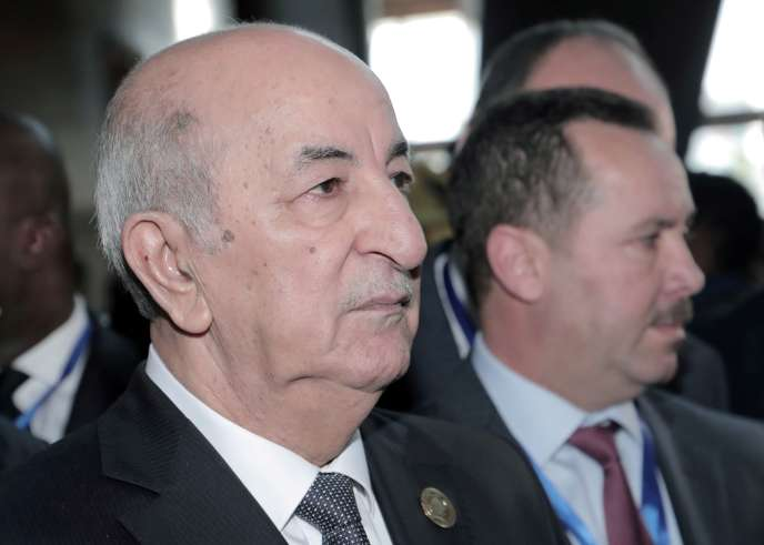 Le président algérien Abdelmadjid Tebboune le 9 février 2020 à Addis-Abeba, en Ethiopie lors d'une réunion de l'Union africaine.