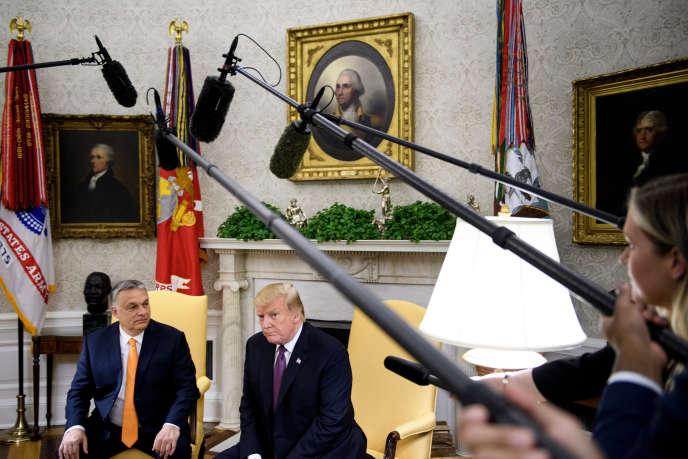 Le Premier ministre hongrois Viktor Orban et le président américain Donald Trump à la Maison Blanche, le 13 mai 2019.