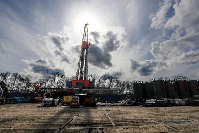 Un site d'extraction de gaz de schiste à StMarys, Pennsylvanie, le 12mars 2020.