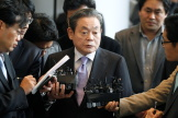 Le président de Samsung, Lee Kun-Hee, au siège de la compagnie, à Séoul,en 2010.