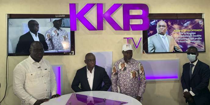 Kouadio Konan Bertin, candidat à la présidentielle du 31 octobre 2020, à Abidjan, au siège de sa webtélé, KKB, à Abidjan.