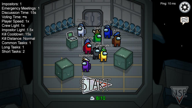La salle d'attente, où se réunissent les joueurs avant le début d'une partie.