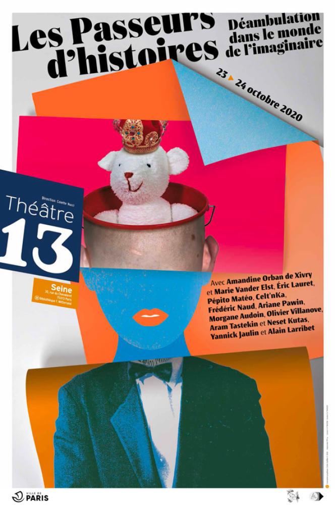 Affiche des Passeurs d'histoires au Théâtre 13/Seine (Paris 13e), du 23 au 25 octobre 2020.