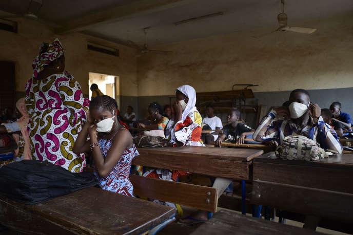 Dans une classe à Bamako, en juin 2020.