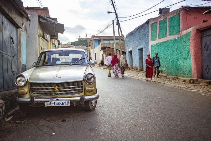 En Ethiopie, la 404 Peugeot continue de circuler.
