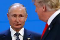 Vladimir Poutine et Donald Trump, au sommet du G20, à Buenos Aires, le 30 novembre 2018.