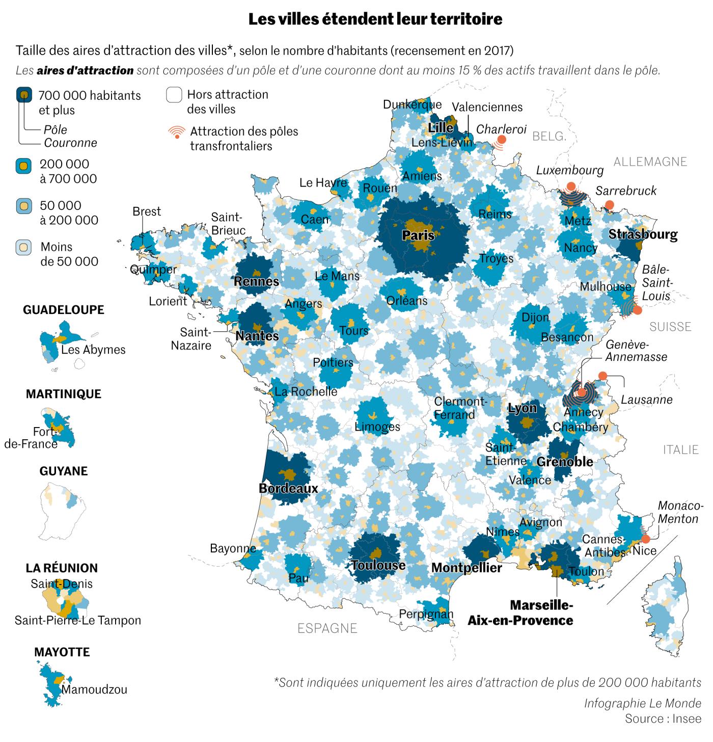 Les Français vivent de plus en plus dans les zones urbaines ; les périphéries attirent davantage