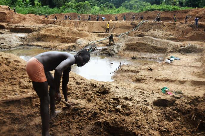 Dans le sud de Boda, région diamantifère de Centrafrique en 2015.