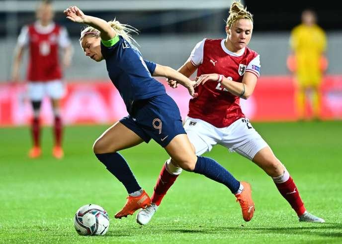 Eugénie Le Sommer et les Bleues ont été pendues en Autriche.
