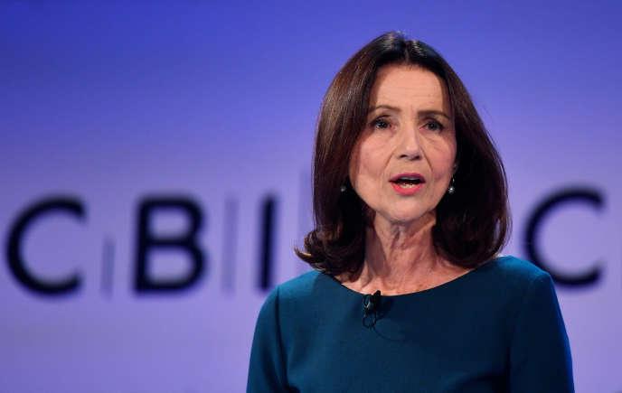 Carolyn Fairbairn, la directrice générale de la Confederation of British Industry (CBI), le patronat britannique, à Londres, le 19 novembre 2018.