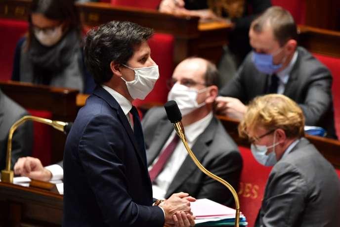 Le ministre de l'agriculture et de l'alimentation, Julien Denormandie, à l'Assemblée nationale, àParis, le 27octobre.